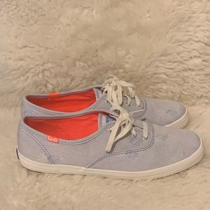 Keds Ortholite Blue Pineapple Chambray Shoes US 7